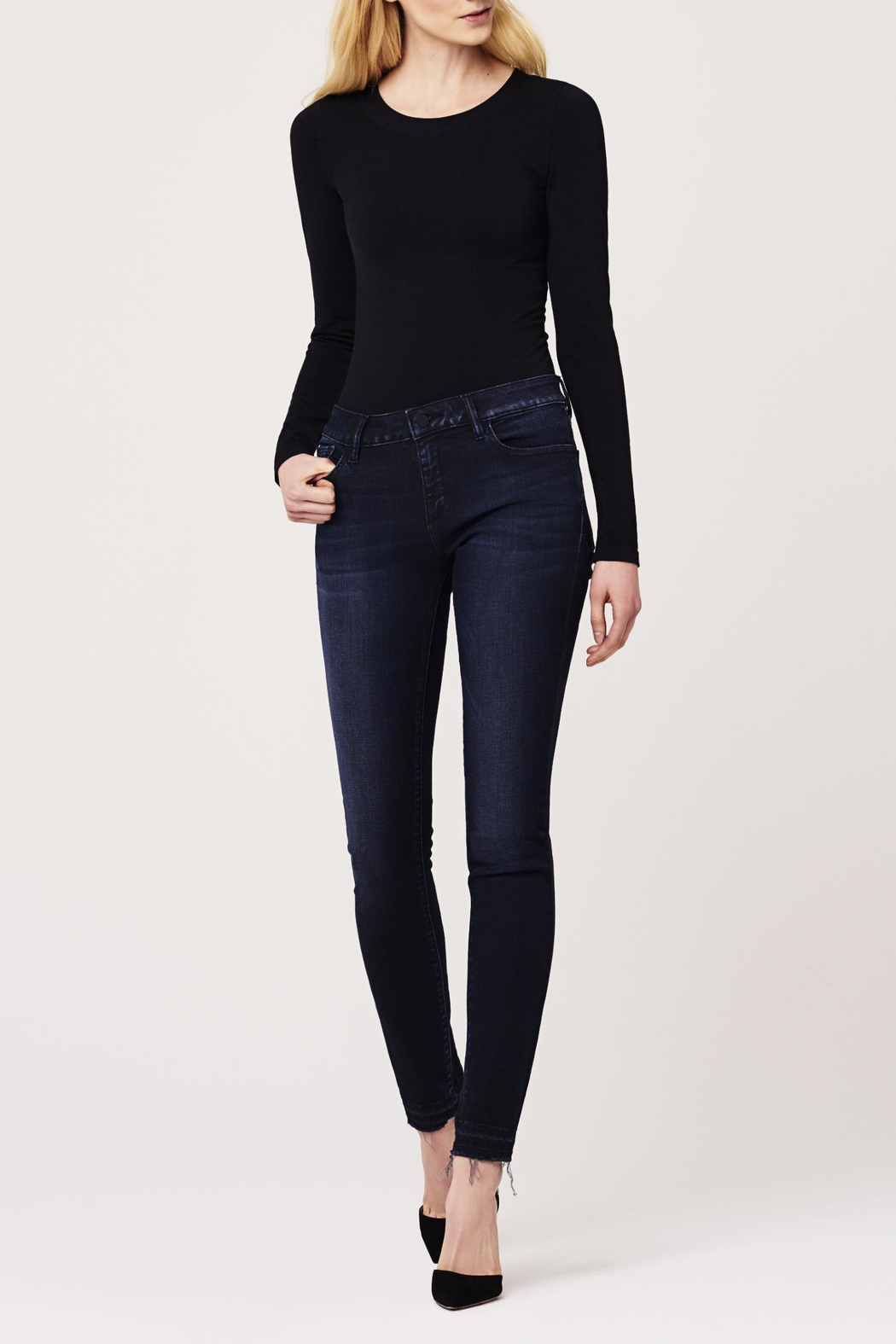 DL1961 Midrise Released-Hem Skinny - Front Cropped Image