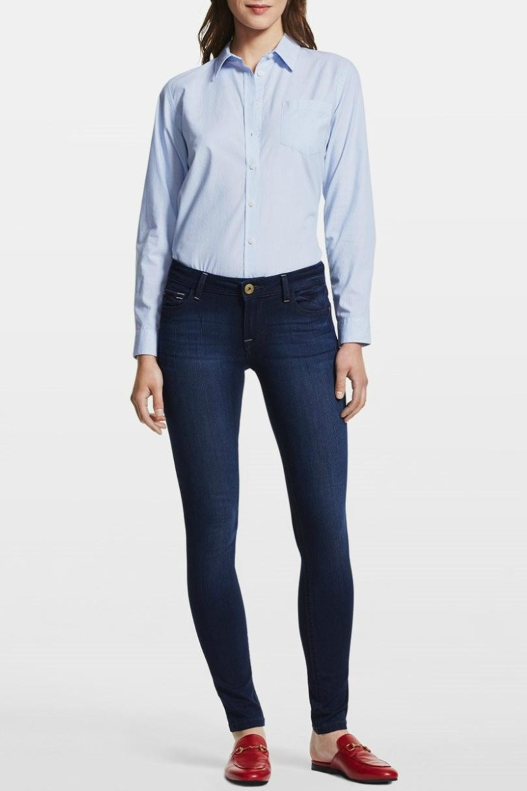 DL1961 Petite Skinny Jeans - Side Cropped Image