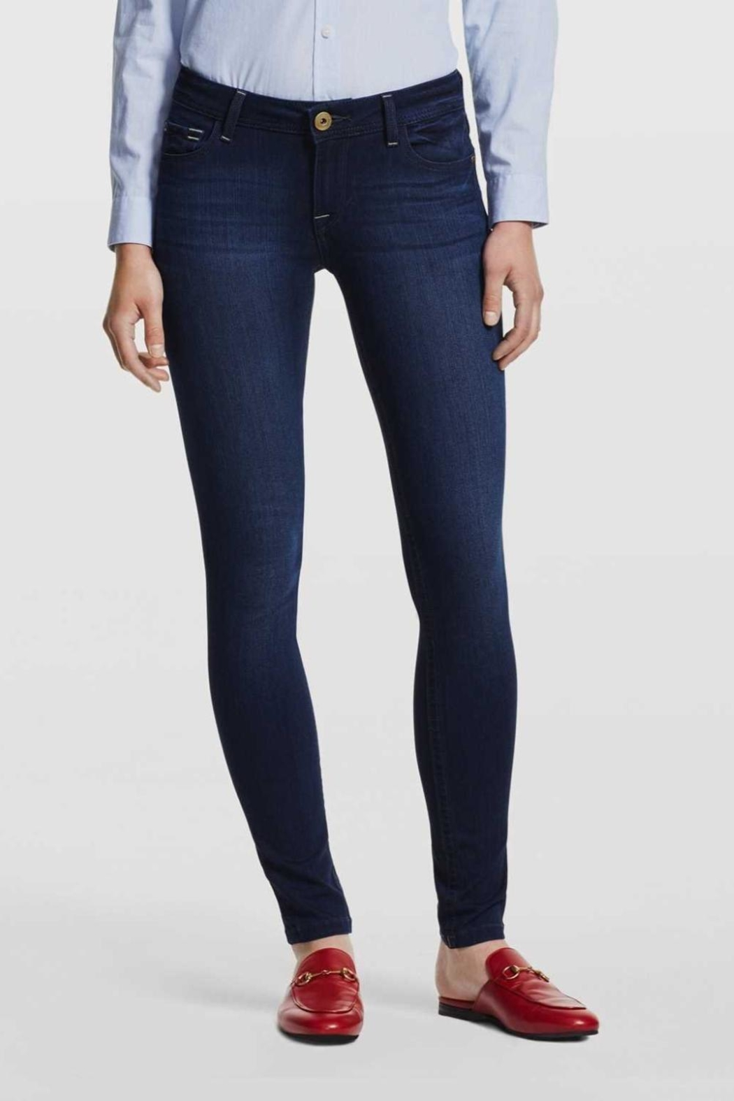 DL1961 Petite Skinny Jeans - Front Cropped Image