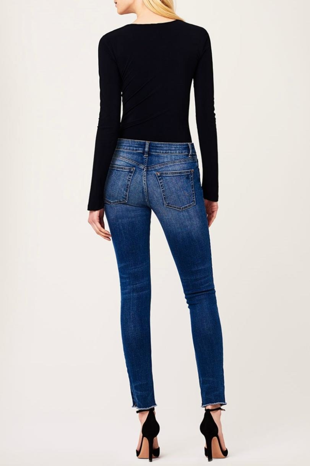 DL1961 Mid Rise Skinny Jeans - Back Cropped Image