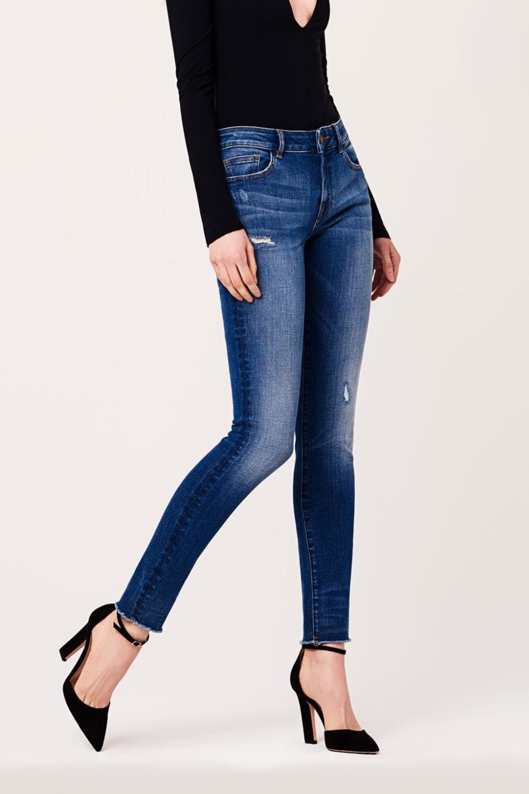 DL1961 Mid Rise Skinny Jeans - Main Image