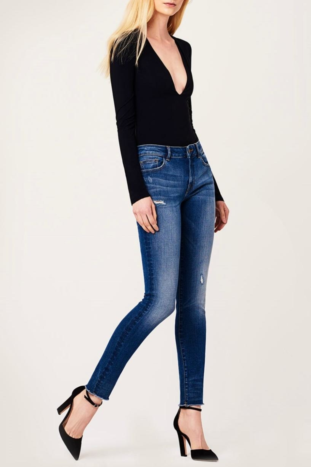 DL1961 Mid Rise Skinny Jeans - Side Cropped Image