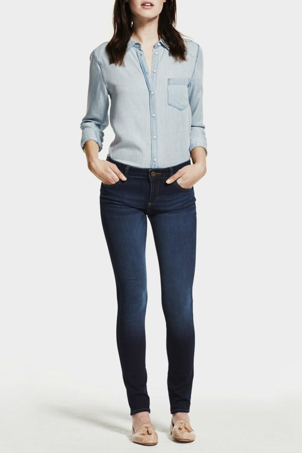 DL 1961 Florence Skinny Warner Jeans - Side Cropped Image