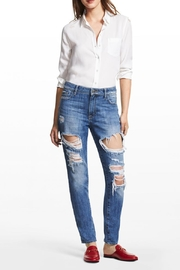 DL 1961 Goldie High Rise Tapered Jeans - Front cropped