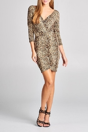 DNA Couture Animal Print Dress - Front cropped