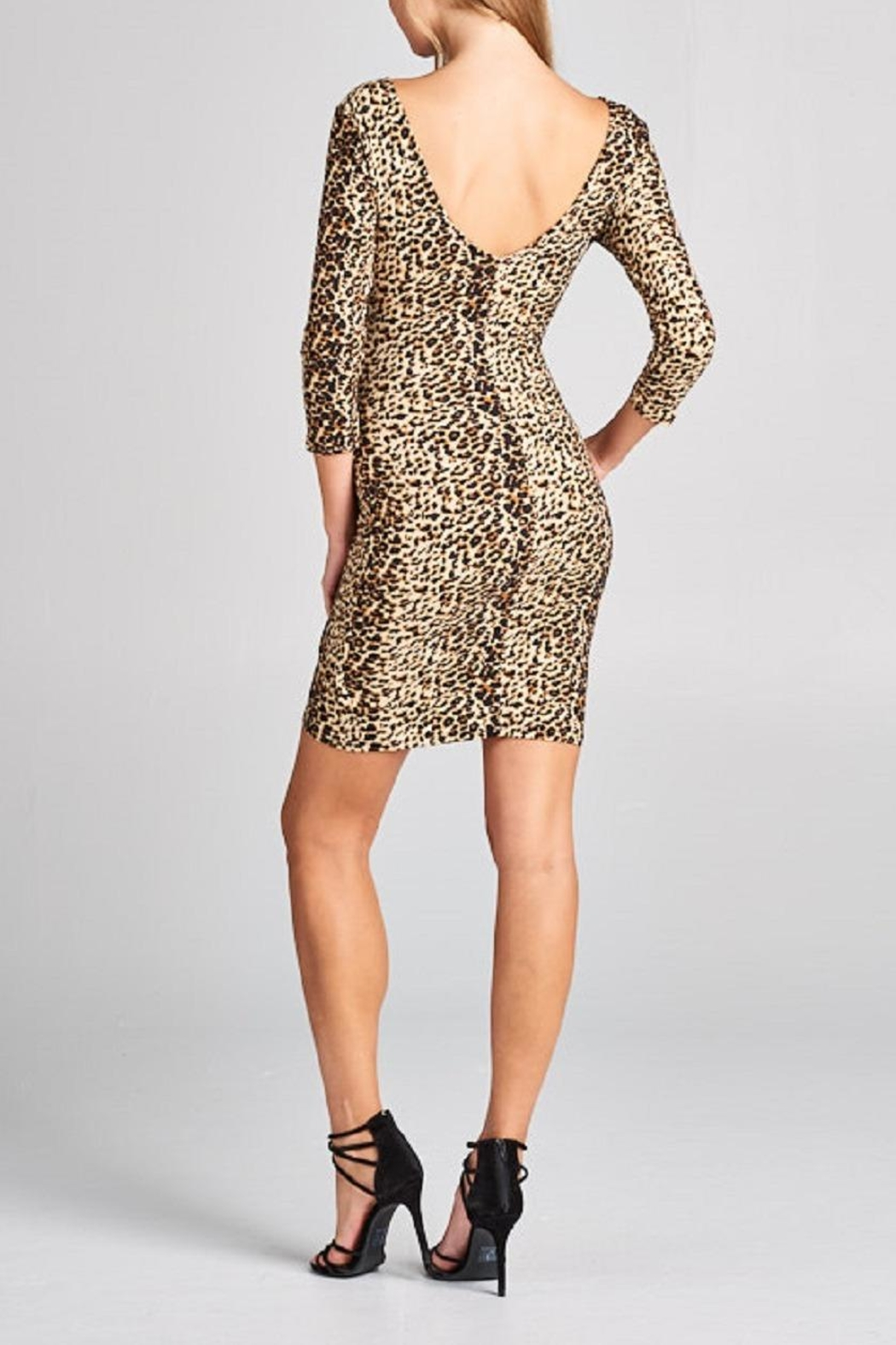 DNA Couture Animal Print Dress - Back Cropped Image