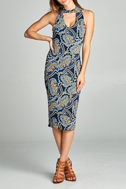 DNA Couture Mock-Neck Paisley Dress - Product Mini Image