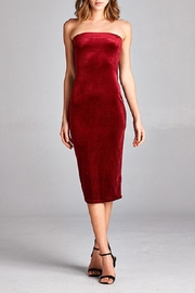 DNA Couture Red Velvet Tube-Dress - Product Mini Image