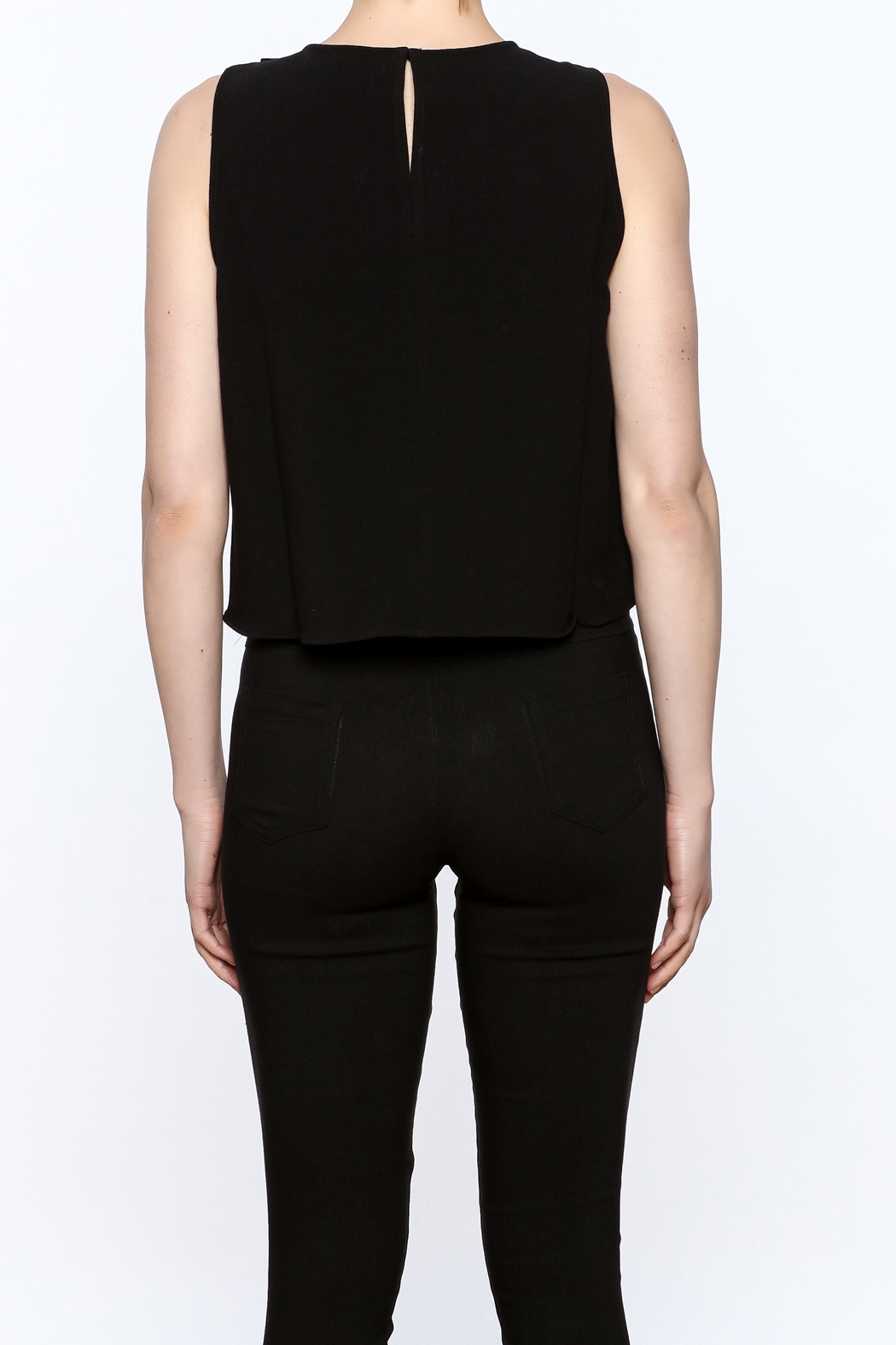 Do & Be Asymmetrical Crop Top - Back Cropped Image