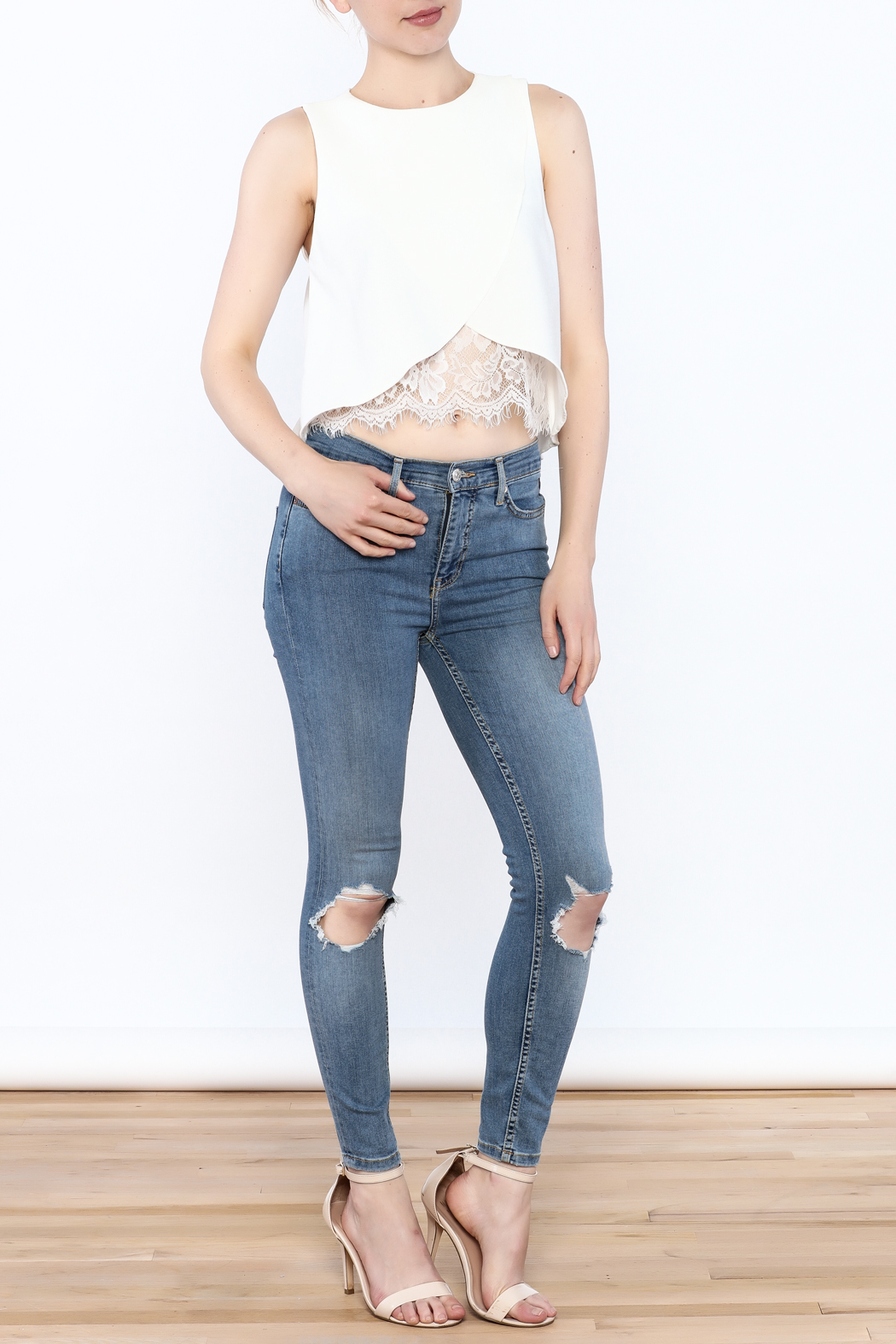 Do & Be Asymmetrical Crop Top - Side Cropped Image
