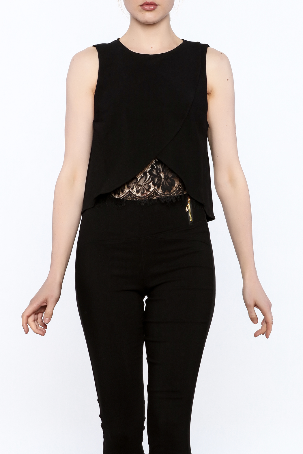 Do & Be Asymmetrical Crop Top - Front Cropped Image