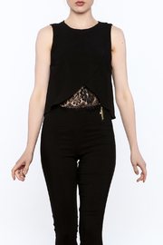 Do & Be Asymmetrical Crop Top - Front cropped