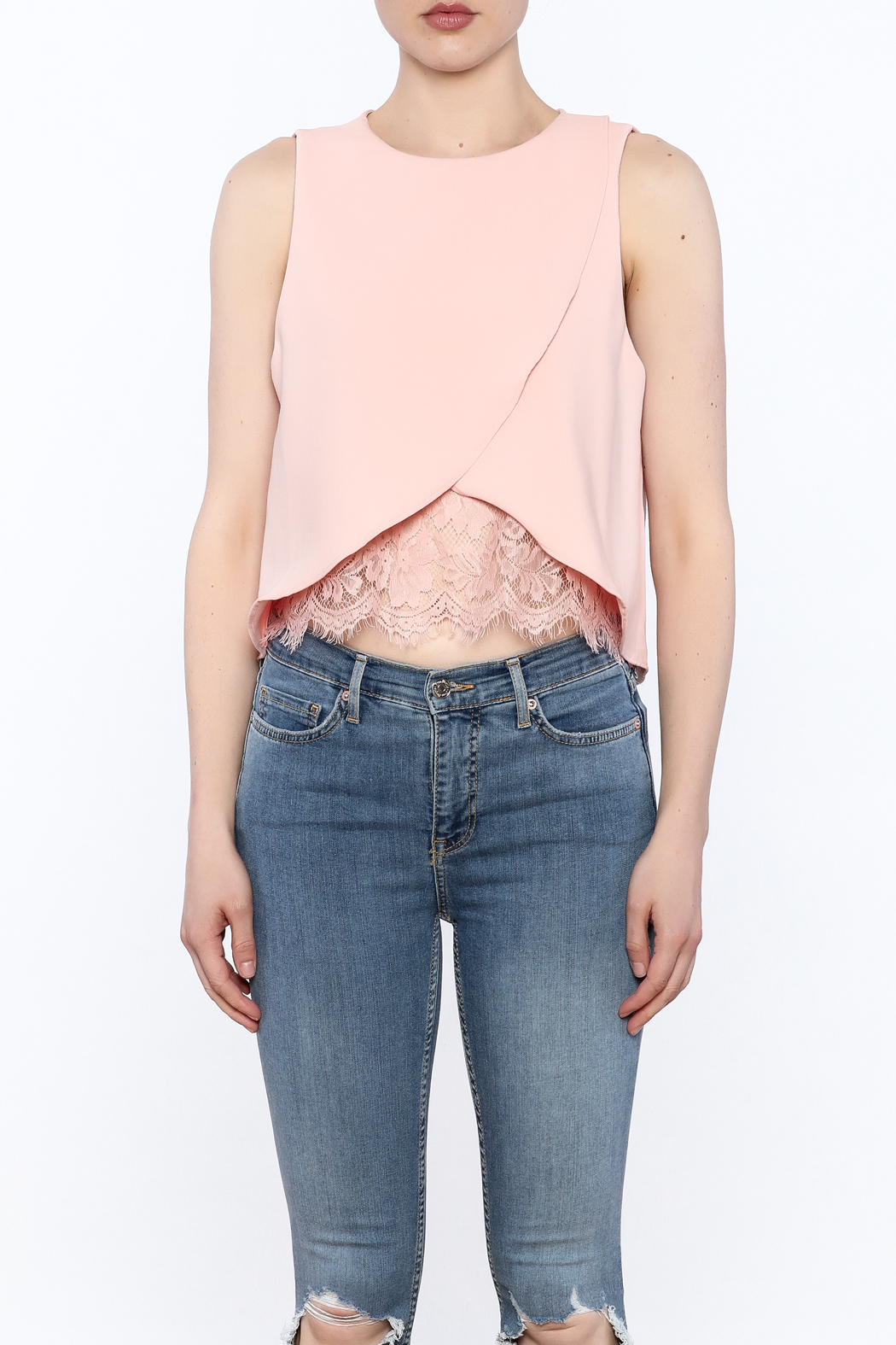 Do & Be Asymmetrical Crop Top - Front Full Image