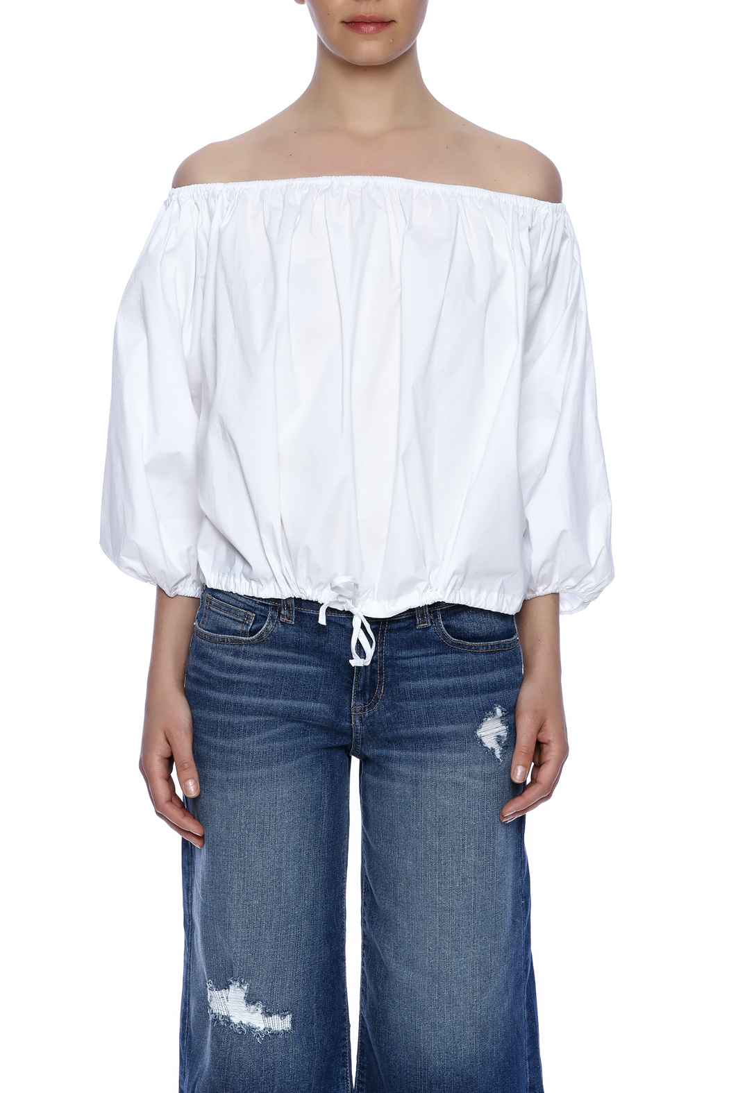 9a6c830ef226bf Do & Be White Balloon Top from New York by Dor L'Dor — Shoptiques