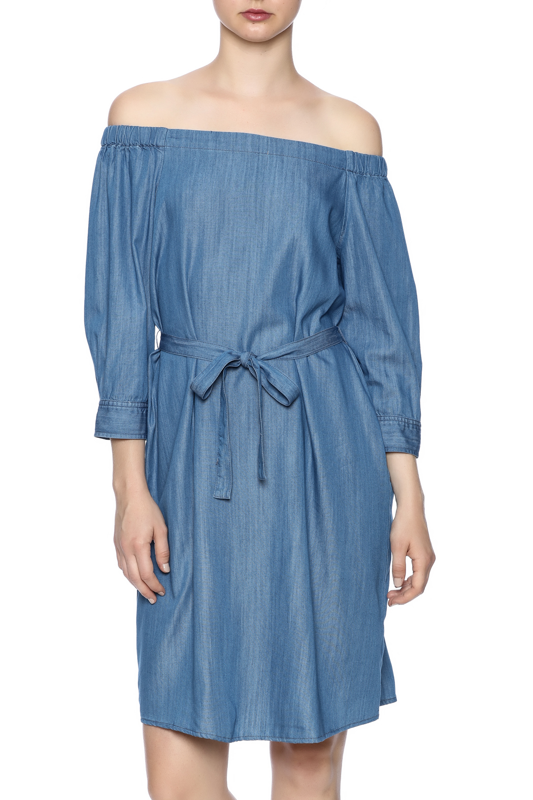do be belted denim dress from miami by of the day