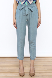 Do & Be Washed Denim Slouch Pants - Side cropped