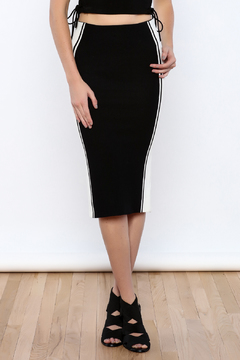 Shoptiques Product: Black colorblock Skirt