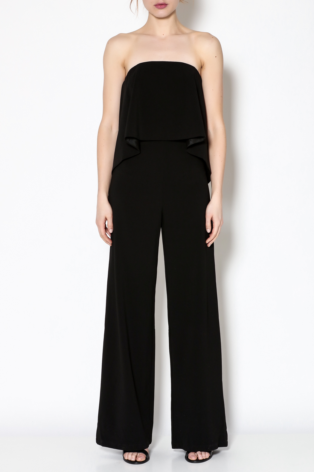 Do Be Black Strapless Jumpsuit Front Cropped Image