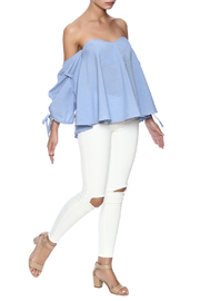 Do & Be Blue Flowy Top - Front full body