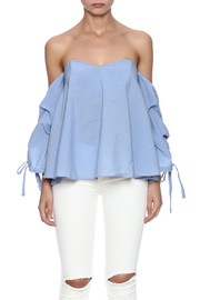 Do & Be Blue Flowy Top - Side cropped