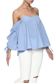 Do & Be Blue Flowy Top - Front cropped