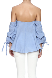 Do & Be Blue Flowy Top - Back cropped