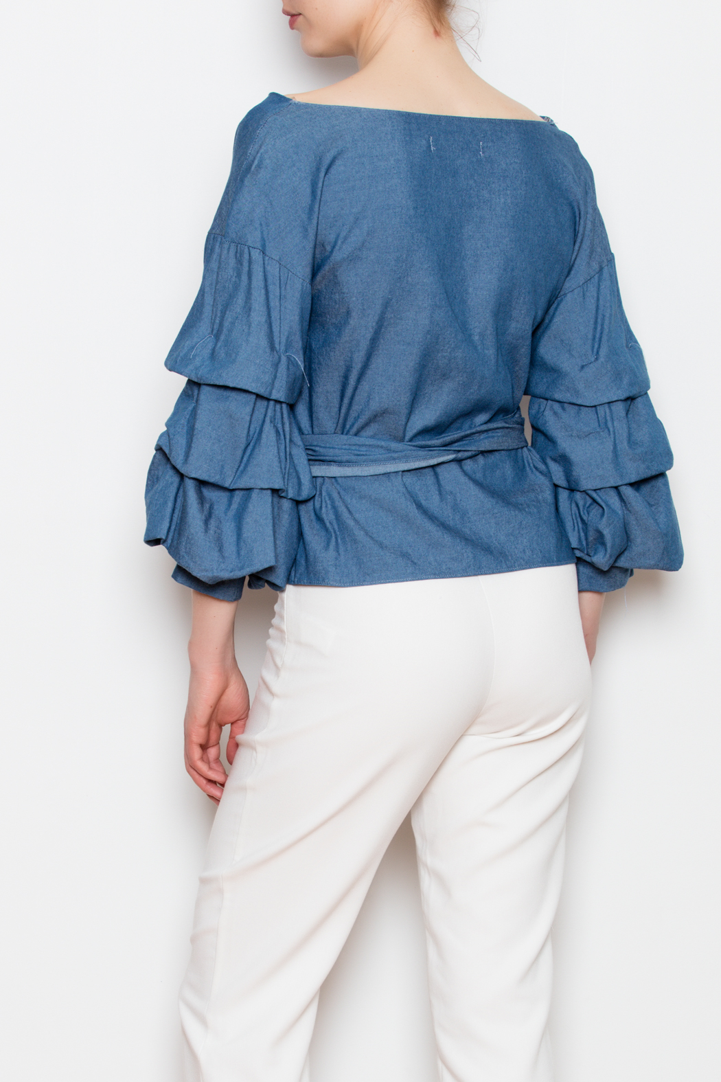 Do & Be Bubble Sleeve Top - Back Cropped Image