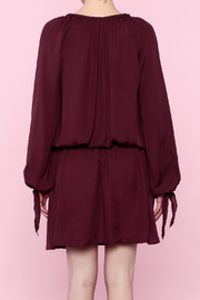 Shoptiques Product: Burgundy Lace-Up Dress - Back cropped