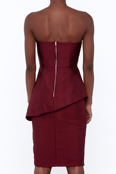 Do & Be Burgundy Strapless Dress - Alternate List Image
