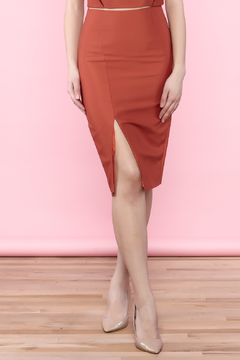 Shoptiques Product: Burnt Orange Pencil Skirt