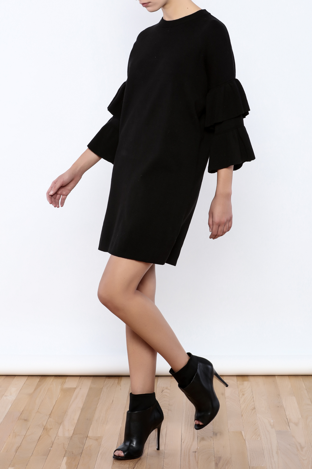 Do & Be Butterfly Sleeve Dress - Front Full Image