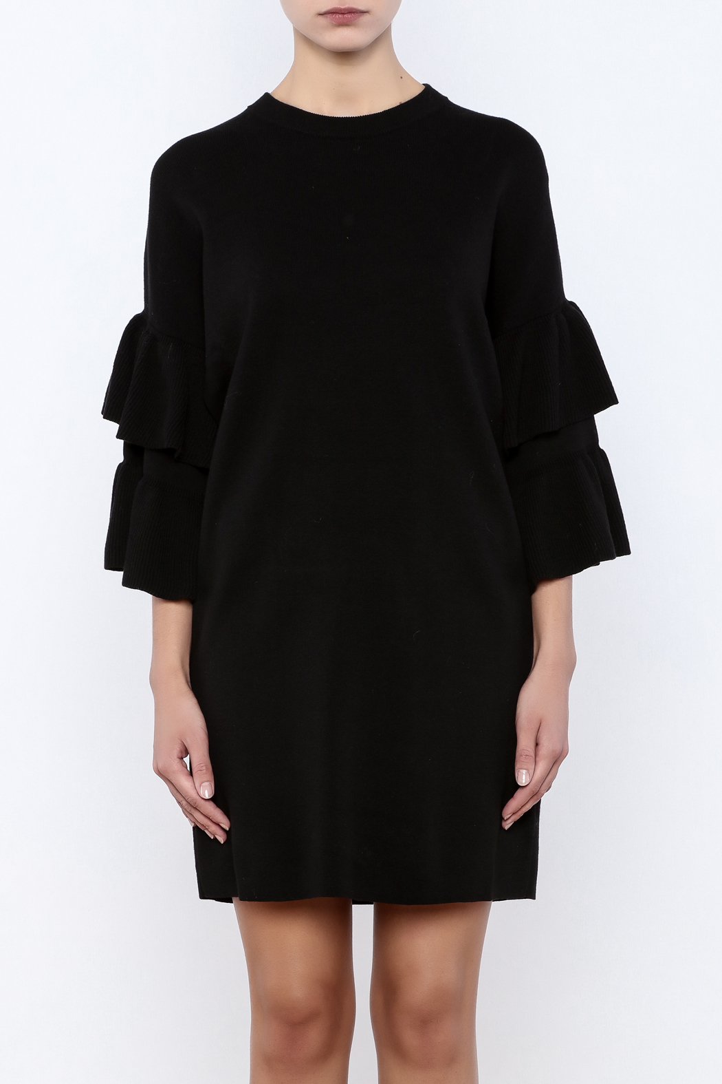 Do & Be Butterfly Sleeve Dress - Side Cropped Image