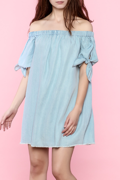 Shoptiques Product: Off Shoulder Chambray Dress