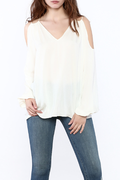 Shoptiques Product: Cold Shoulder Tunic Blouse