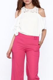 Do & Be White Cold Shoulder Top - Product Mini Image