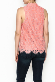 Do & Be Coral Lace Choker Top - Back cropped