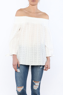 Shoptiques Product: Crochet Off-Shoulder Top