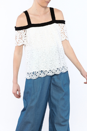 Shoptiques Product: White Crochet Top