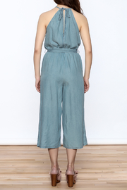 Do & Be Blue Culottes Jumpsuit - Back cropped