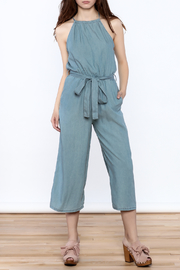Do & Be Blue Culottes Jumpsuit - Product Mini Image