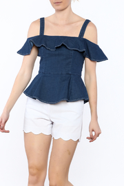 Do & Be Denim Peplum Top - Product Mini Image