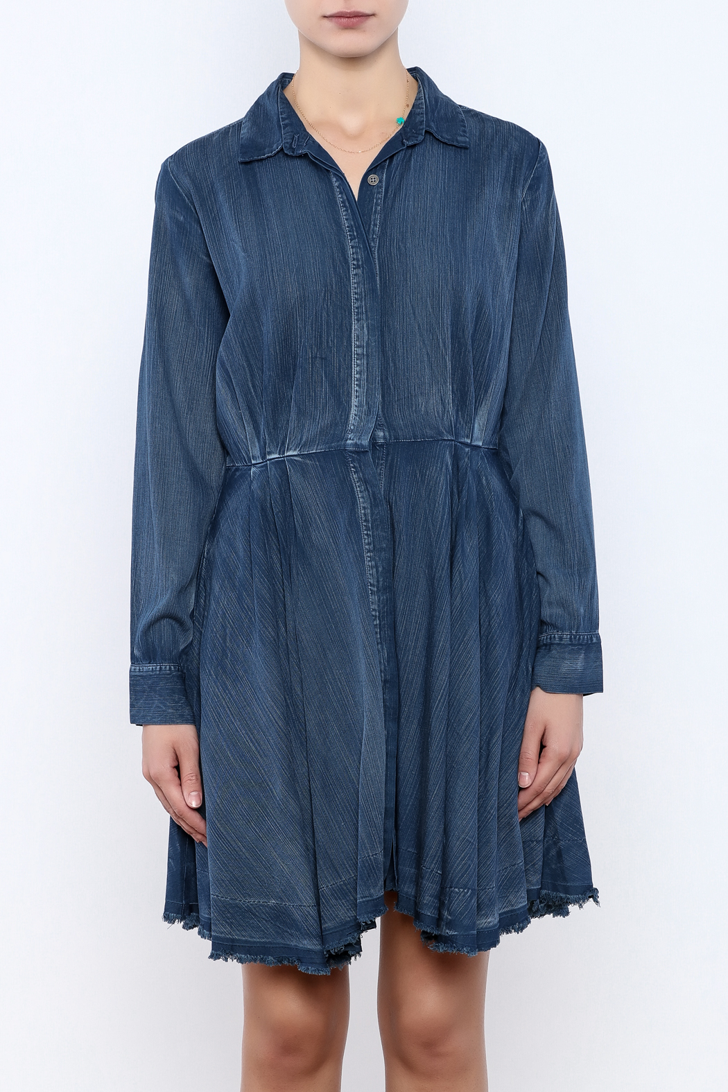 Do & Be Denim Swing Dress - Side Cropped Image