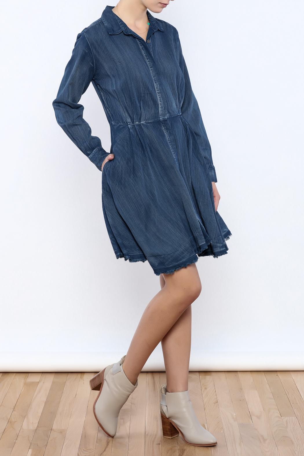 Do & Be Denim Swing Dress - Front Full Image