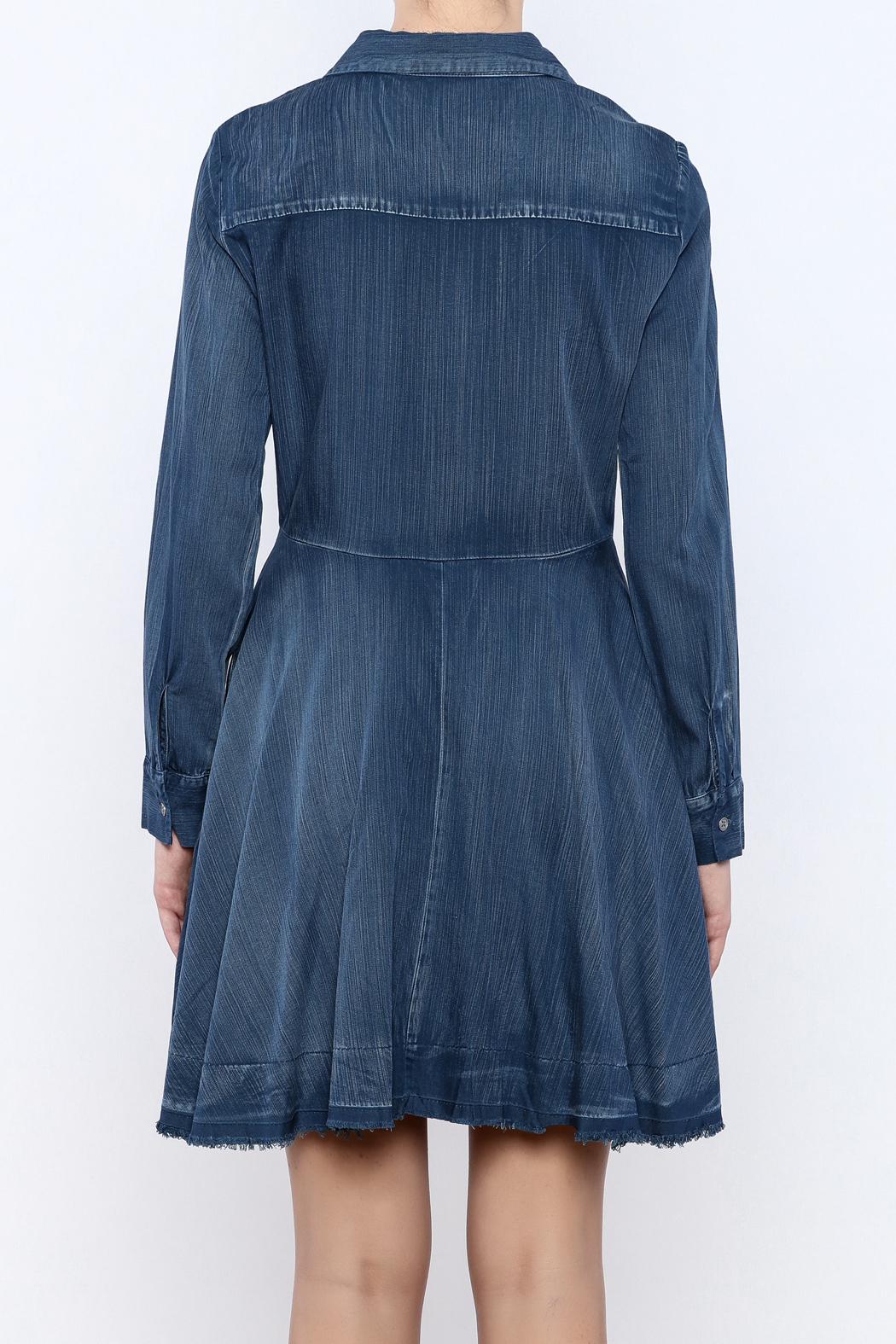 Do & Be Denim Swing Dress - Back Cropped Image