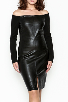 Shoptiques Product: Faux Leather Dress