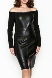 Do & Be Faux Leather Dress - Front cropped