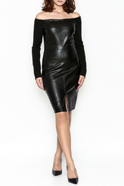 Do & Be Faux Leather Dress - Side cropped