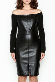 Do & Be Faux Leather Dress - Front full body