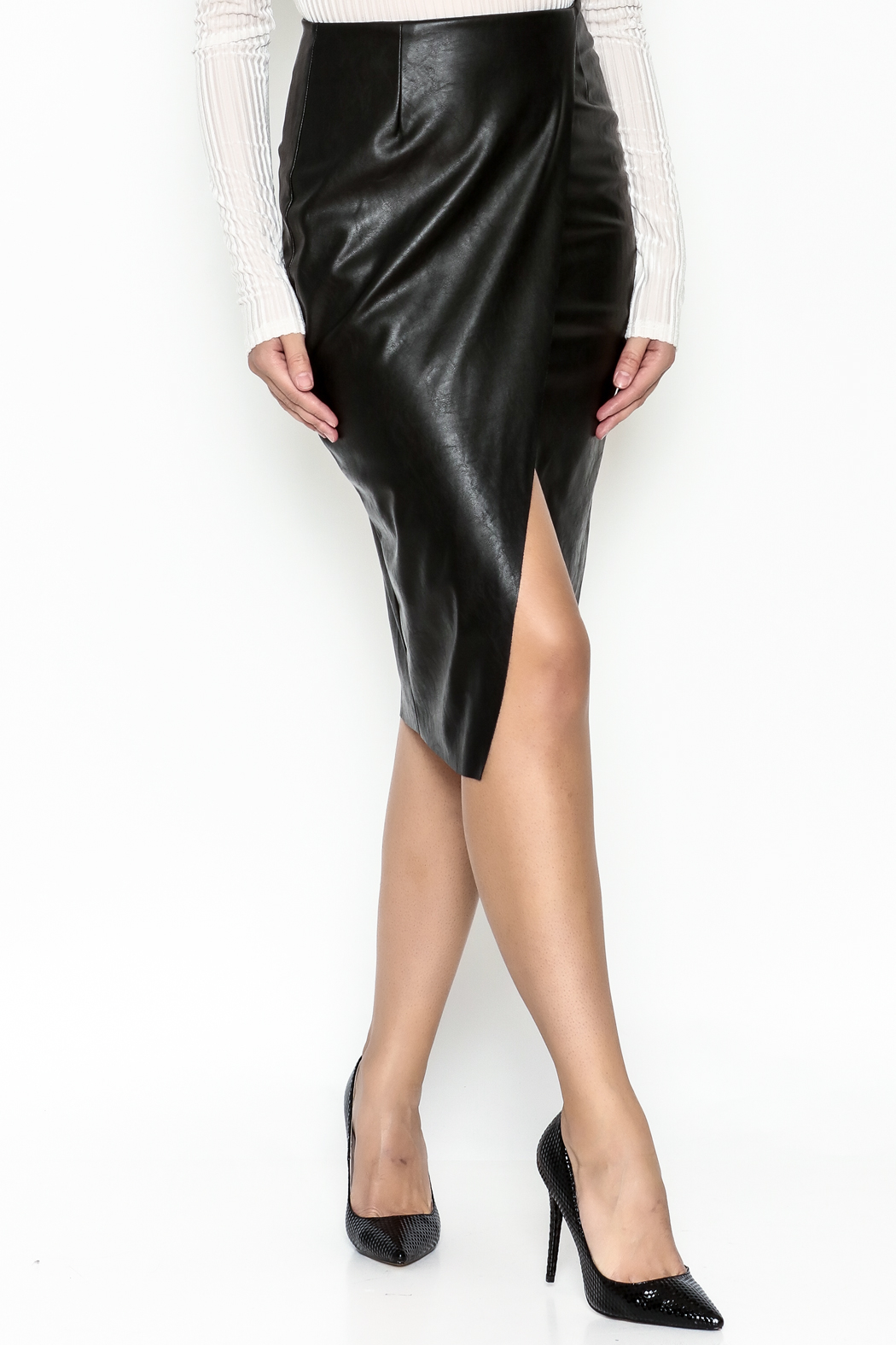 Do & Be Faux Leather Skirt - Front Cropped Image