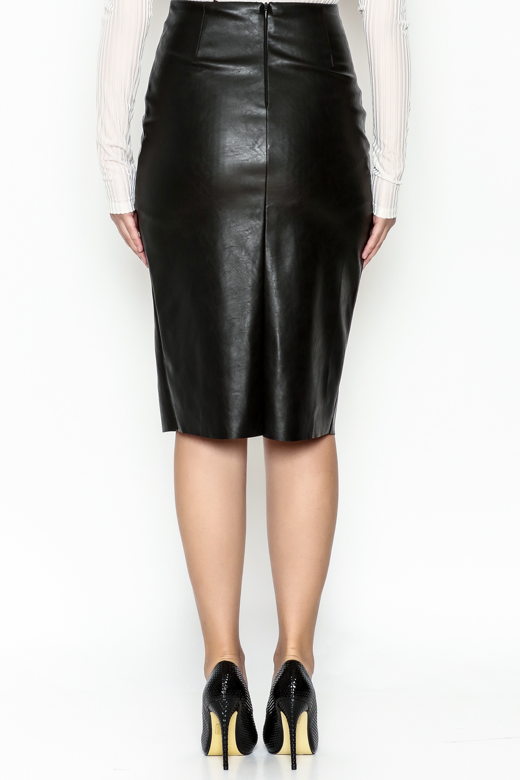 Do & Be Faux Leather Skirt - Back Cropped Image